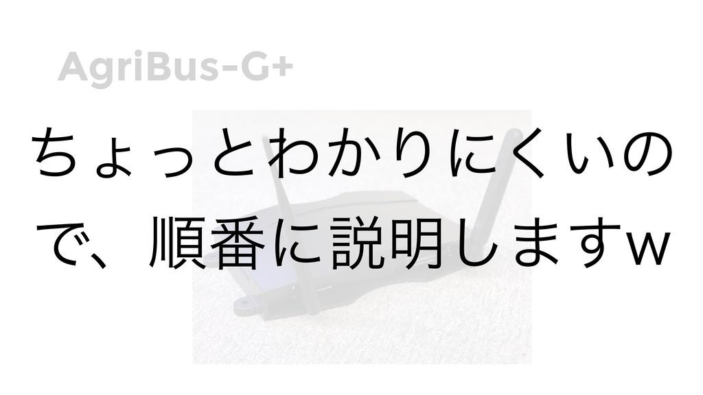 AgriBus-G+ ͪΐͬͱΘ͔Γʹ͍͘ͷ Ͱɺॱ൪ʹઆ໌͠·͢X
