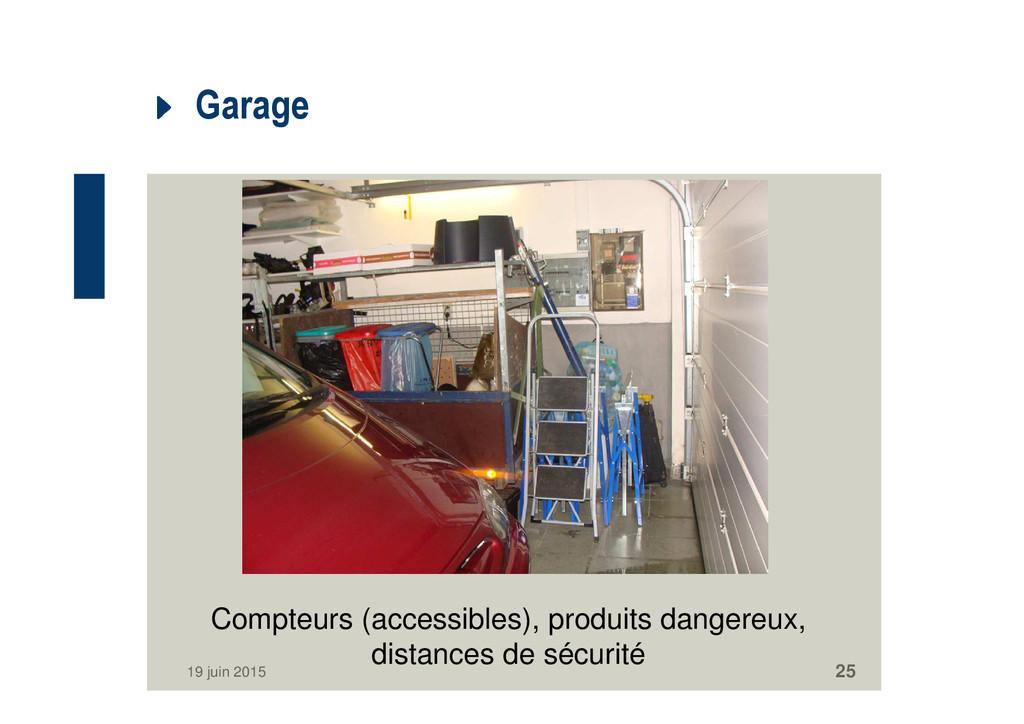Garage 19 juin 2015 25 Compteurs (accessibles),...