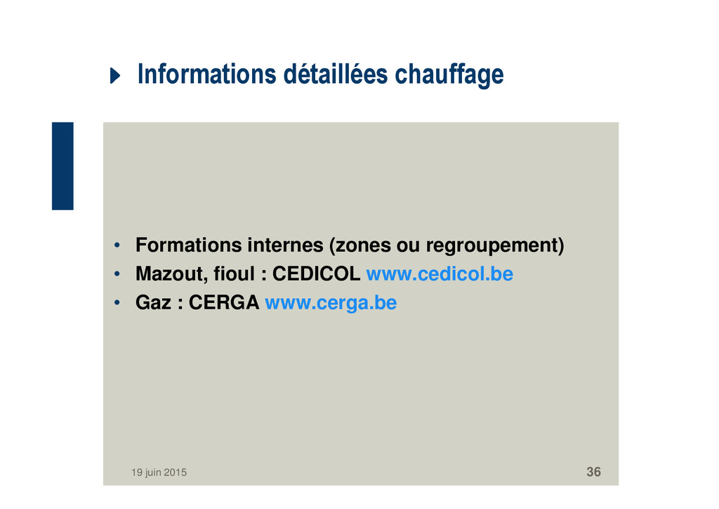 Informations détaillées chauffage • Formations ...