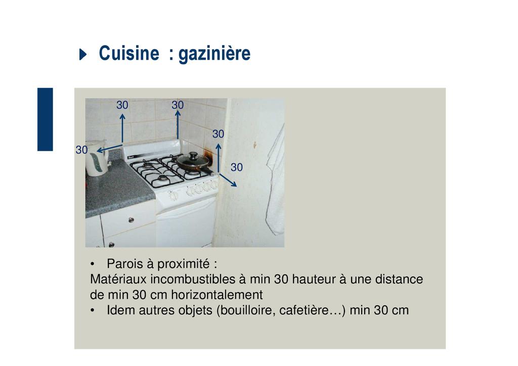 Cuisine : gazinière • Parois à proximité : Maté...