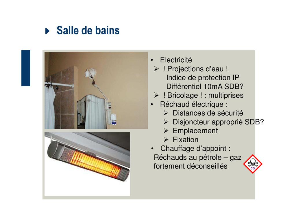 Salle de bains • Electricité ! Projections d'ea...