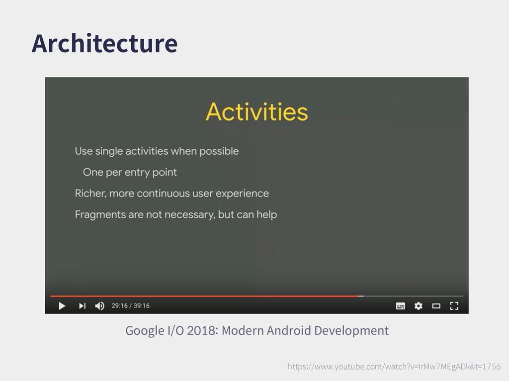 Architecture Google I/O 2018: Modern Android De...