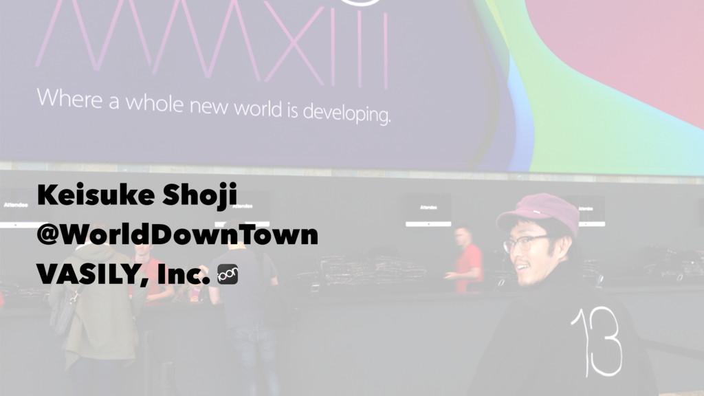 Keisuke Shoji @WorldDownTown VASILY, Inc.