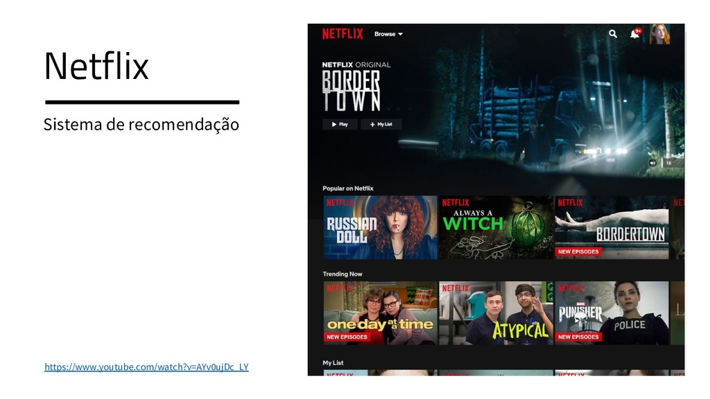 Netflix Sistema de recomendação Netflix Sistema...