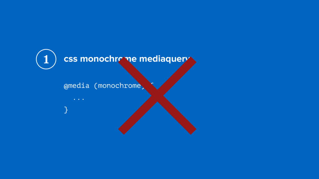 css monochrome mediaquery @media (monochrome) {...