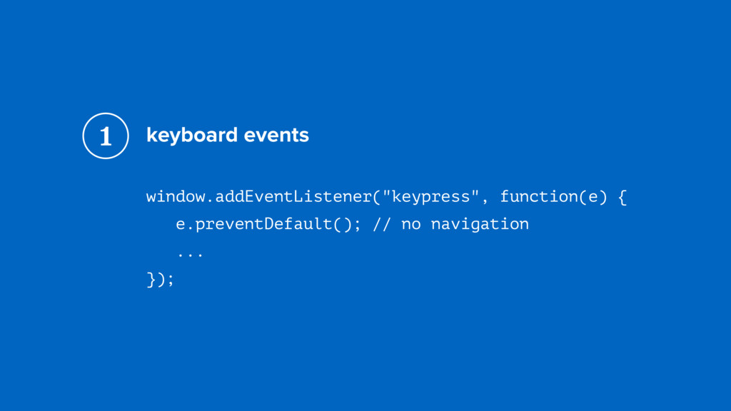 "keyboard events window.addEventListener(""keypre..."