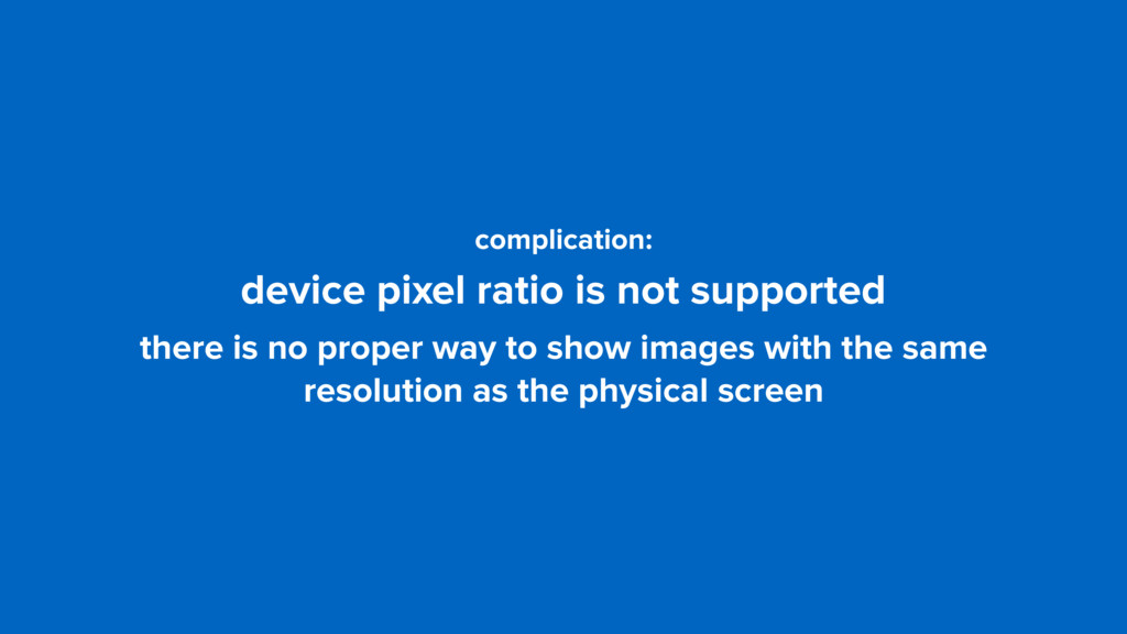 complication: