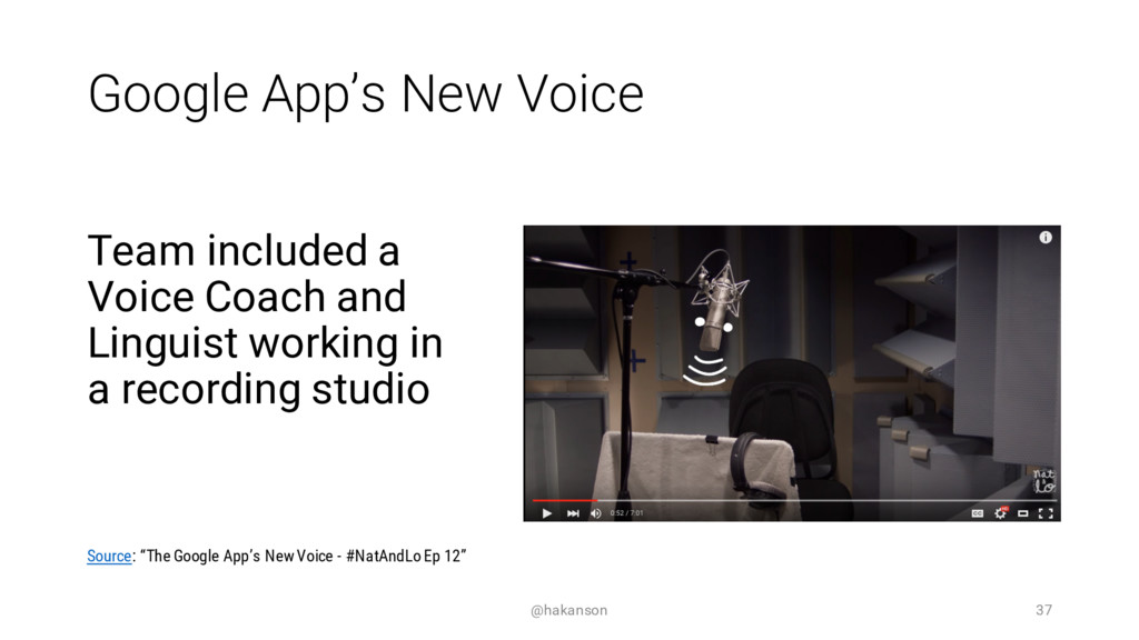 Google App's New Voice Team included a Voice Co...