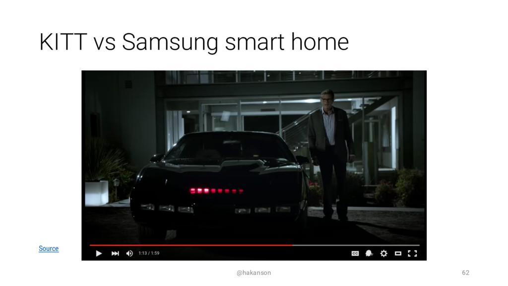 KITT vs Samsung smart home @hakanson 62 Source