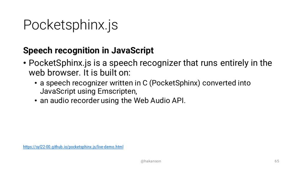 Pocketsphinx.js Speech recognition in JavaScrip...
