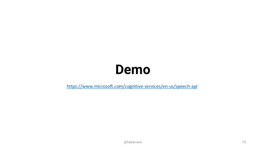 @hakanson 70 Demo https://www.microsoft.com/cog...