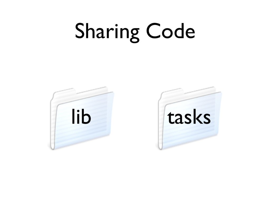 Sharing Code lib tasks