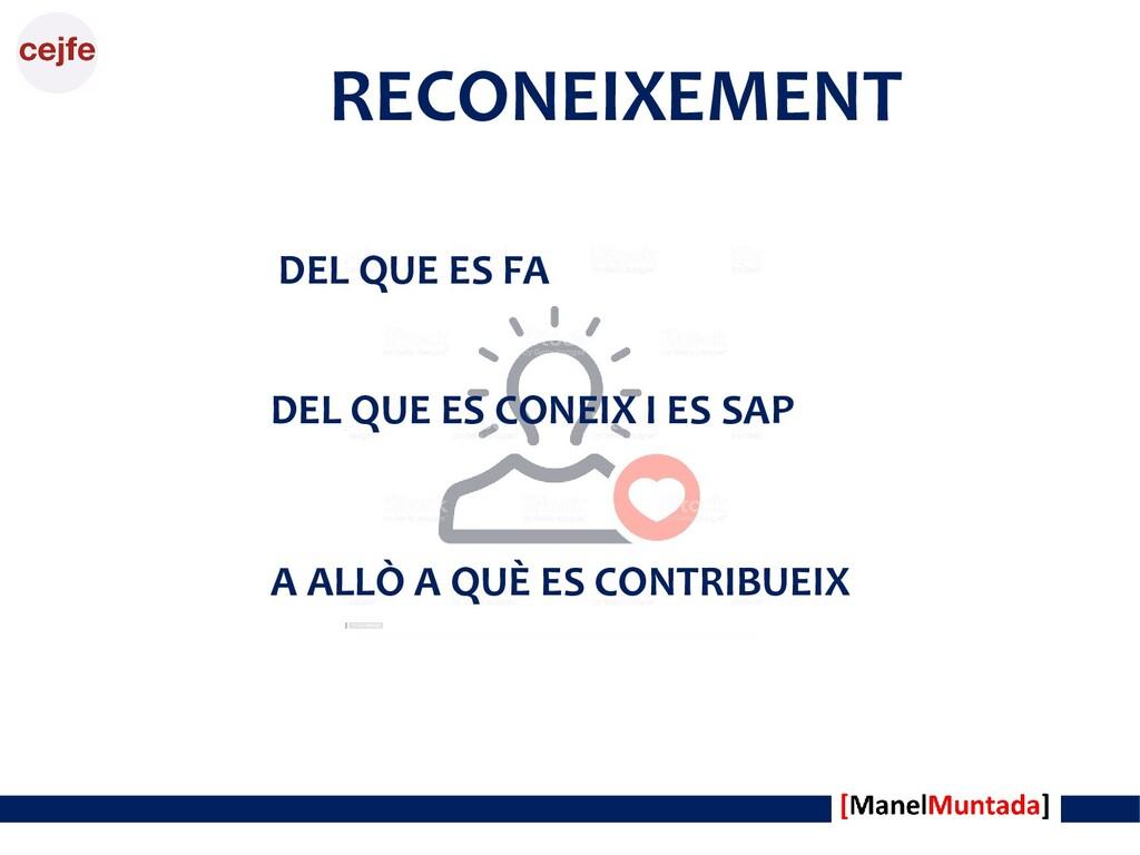 DEL QUE ES FA RECONEIXEMENT DEL QUE ES CONEIX I...