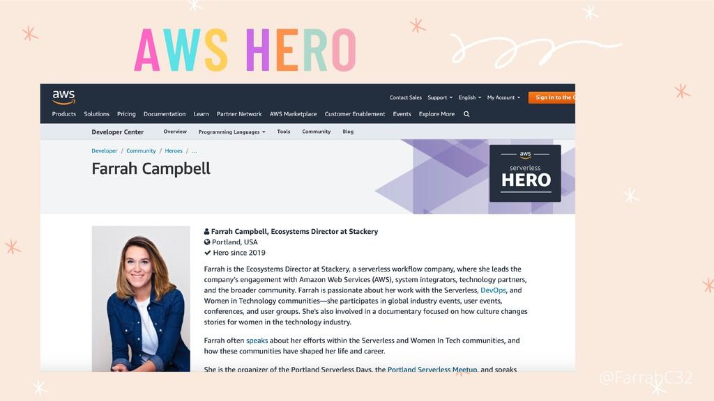 AWS HERO @FarrahC32