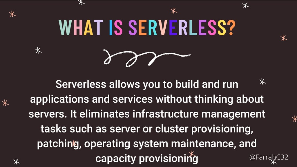 WHAT IS SERVERLESS? Serverless allows you to bu...