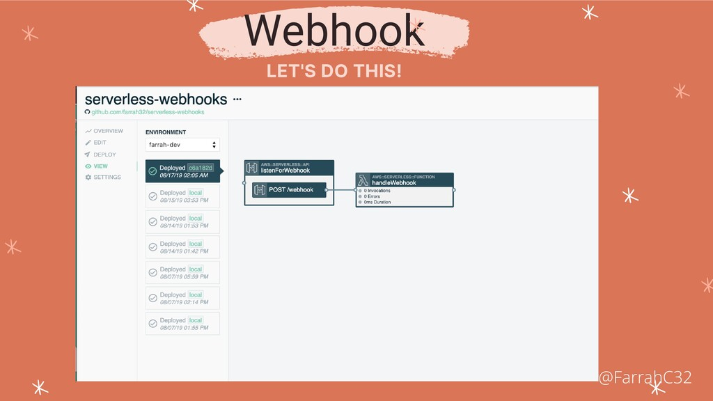 Webhook LET'S DO THIS! @FarrahC32
