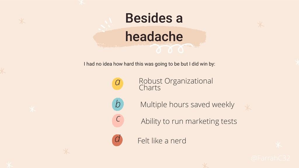 Robust Organizational Charts a Felt like a nerd...