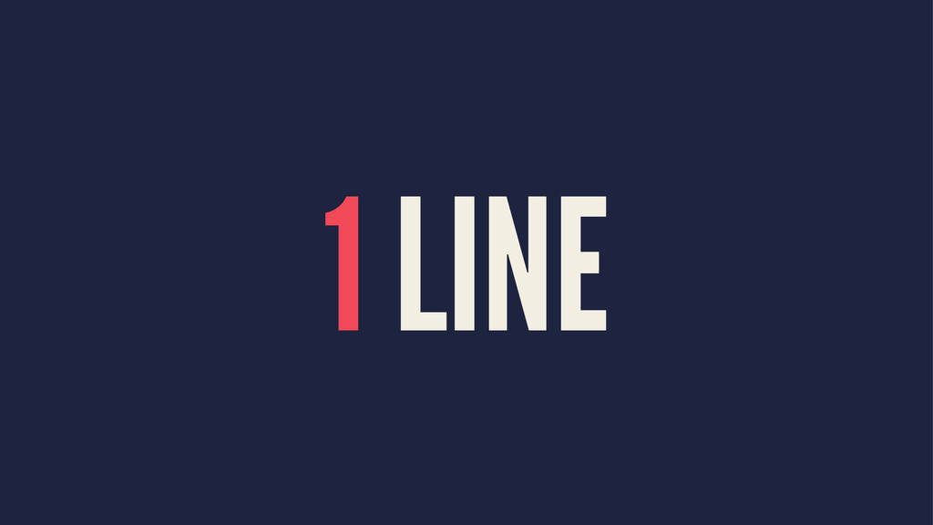 1 LINE