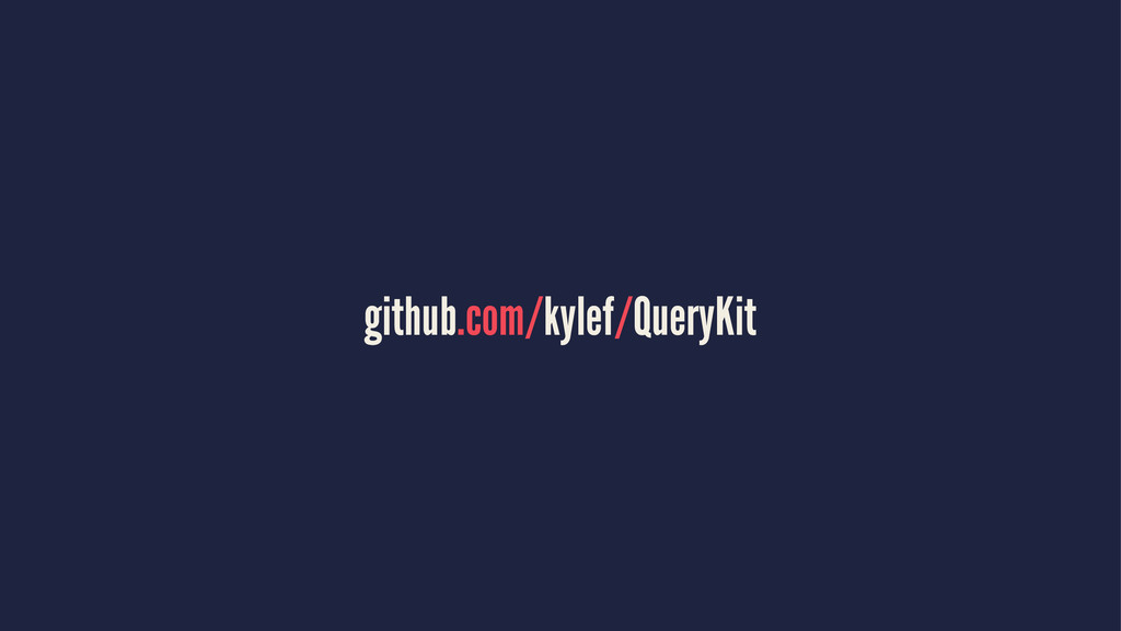 github.com/kylef/QueryKit
