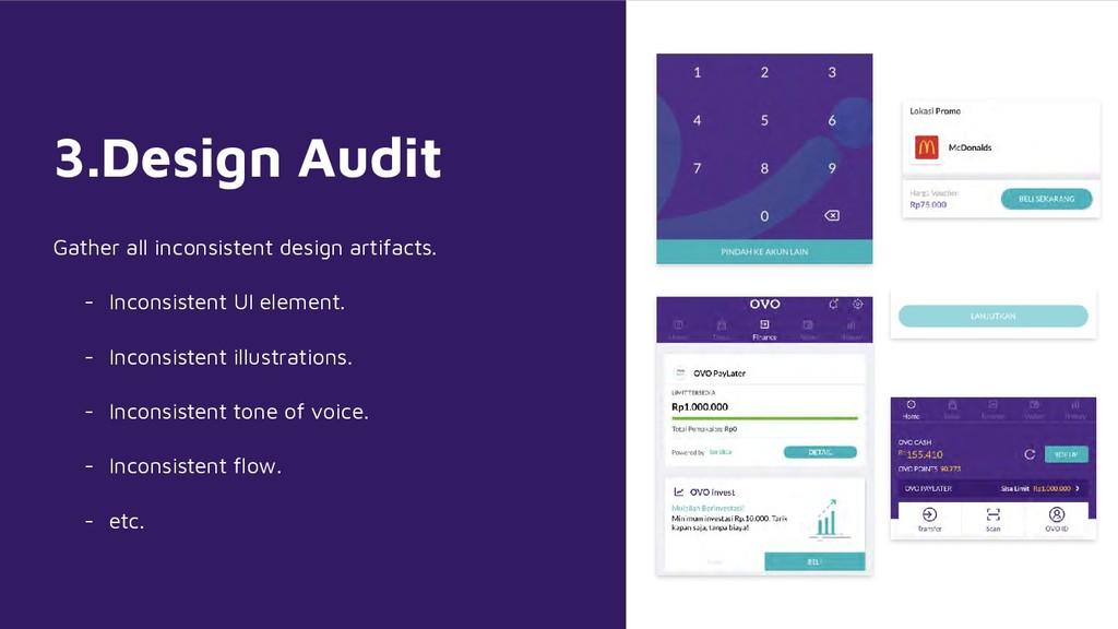 3.Design Audit Gather all inconsistent design a...