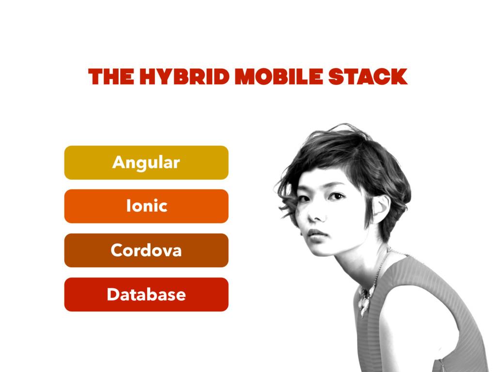 Database Cordova Ionic Angular THE HYBRID MOBIL...