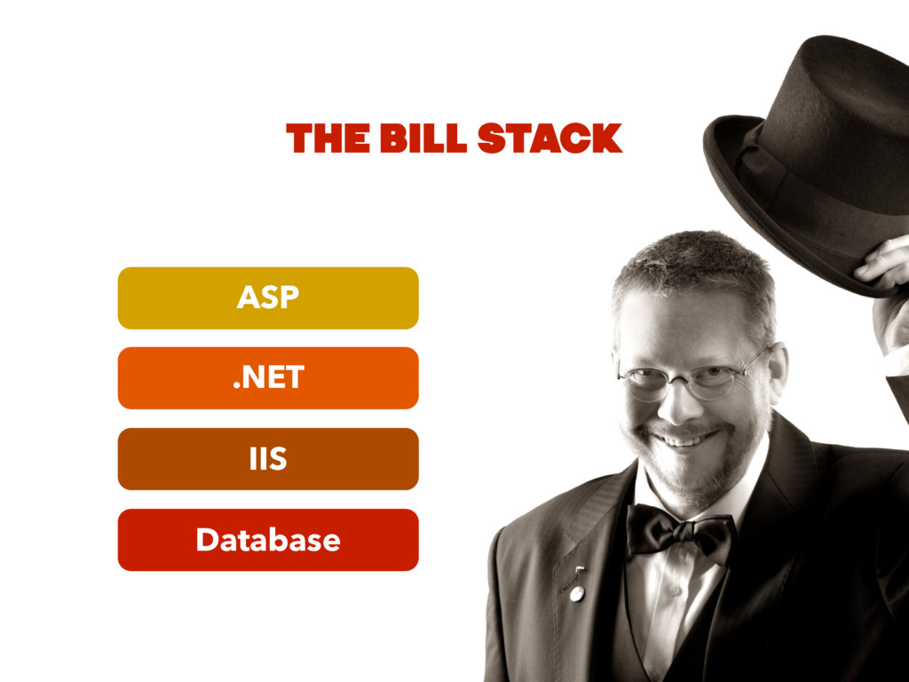 Database IIS .NET ASP THE BILL STACK