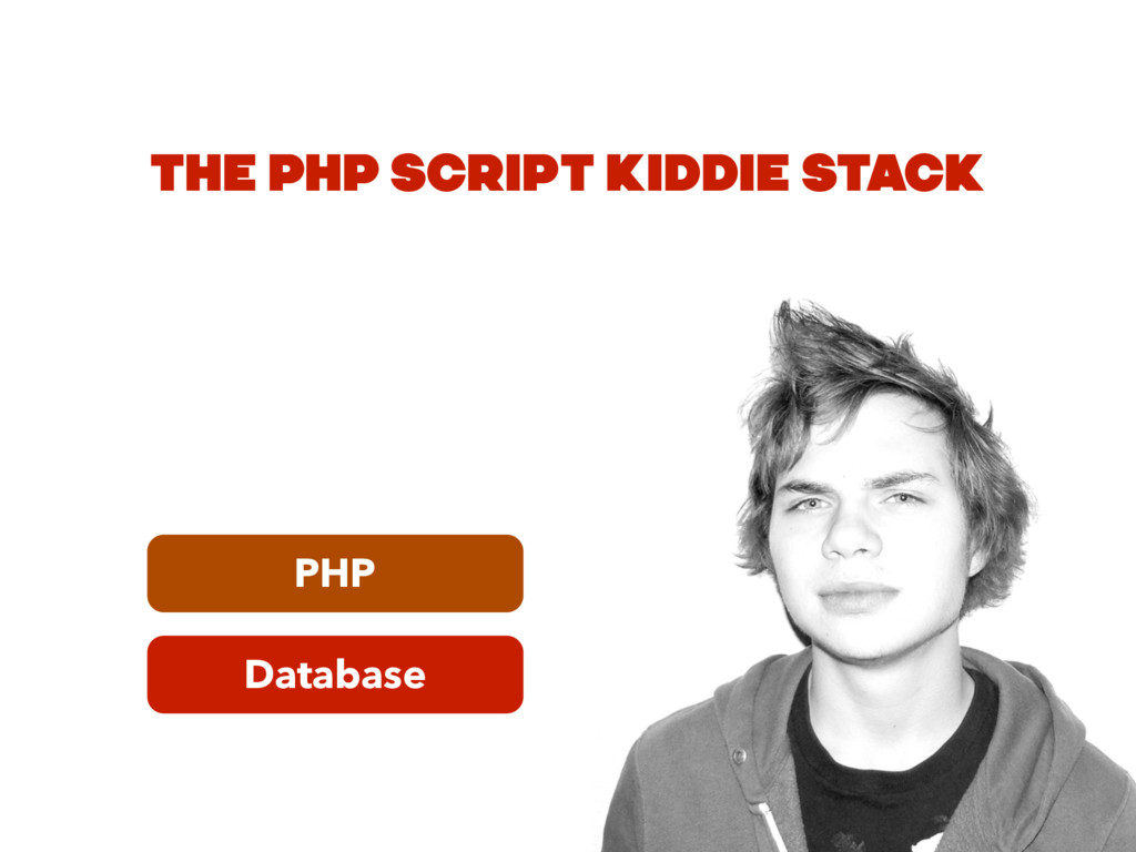 Database PHP THE PHP SCRIPT KIDDIE STACK