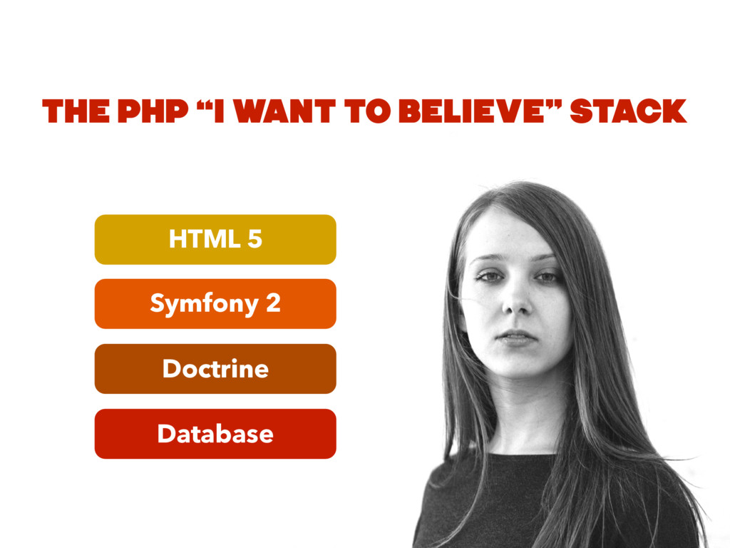 "Database Doctrine Symfony 2 HTML 5 THE PHP ""I W..."
