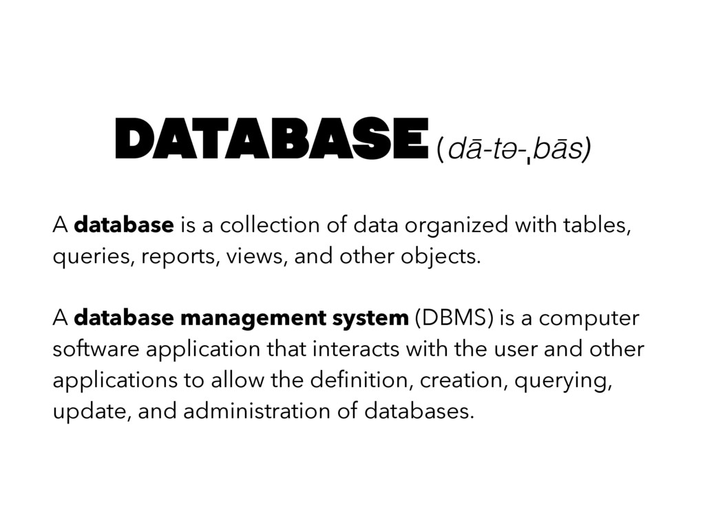 A database is a collection of data organized wi...