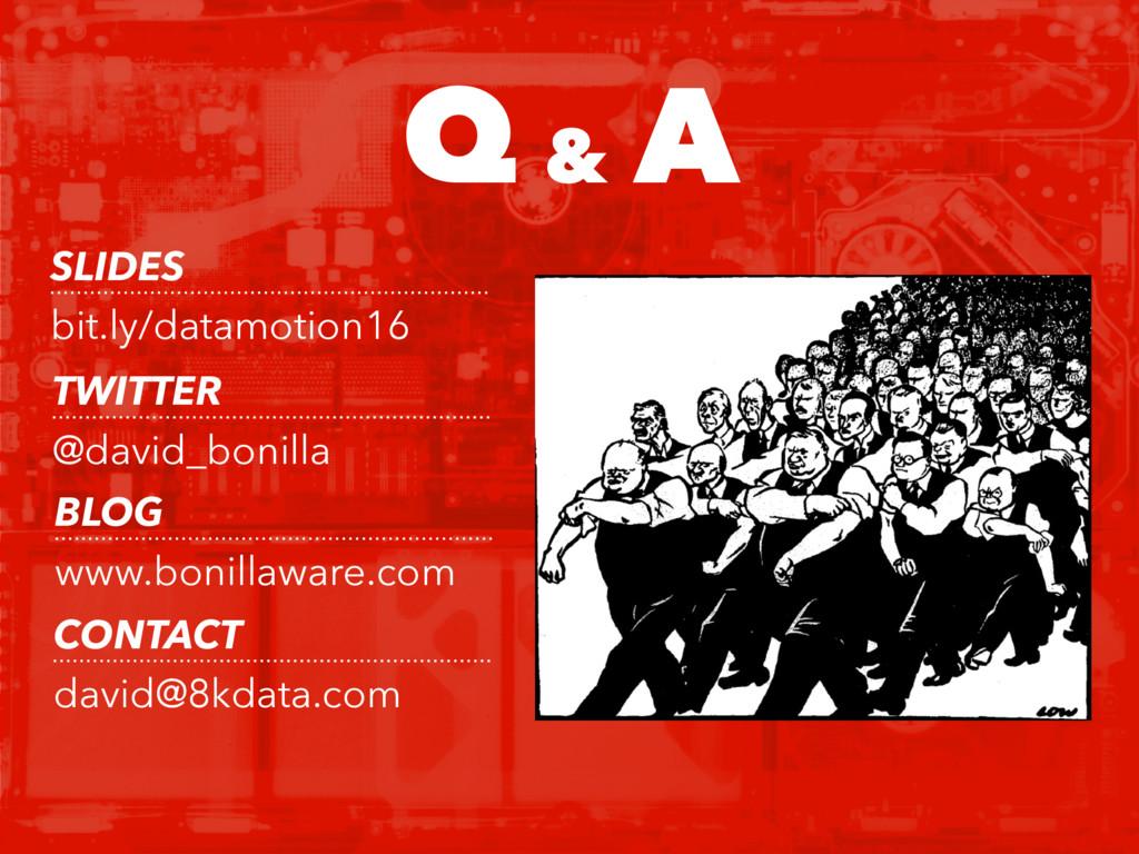 Q & A SLIDES bit.ly/datamotion16 TWITTER @david...