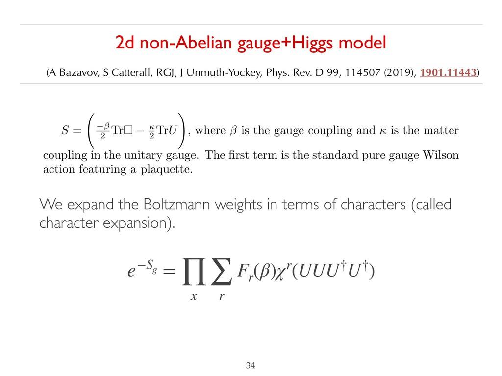 2d non-Abelian gauge+Higgs model  (A Bazavov, ...