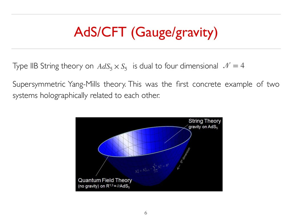 AdS/CFT (Gauge/gravity) !6 Type IIB String theo...
