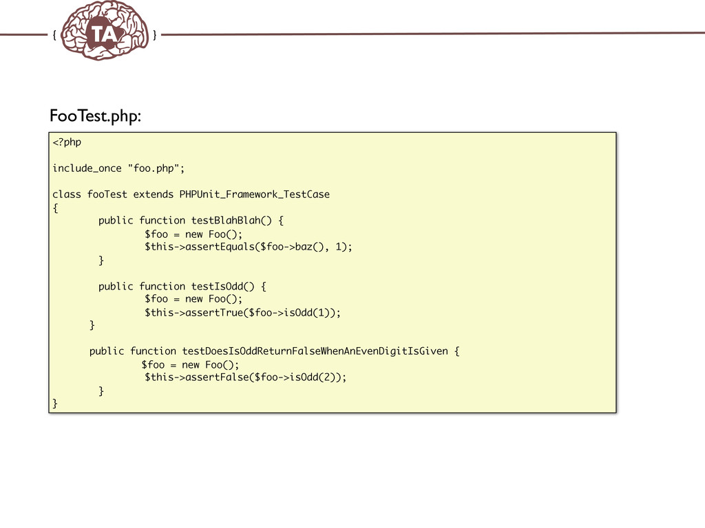 """TechAdemy.nl FooTest.php: <?php include_once """"f..."""