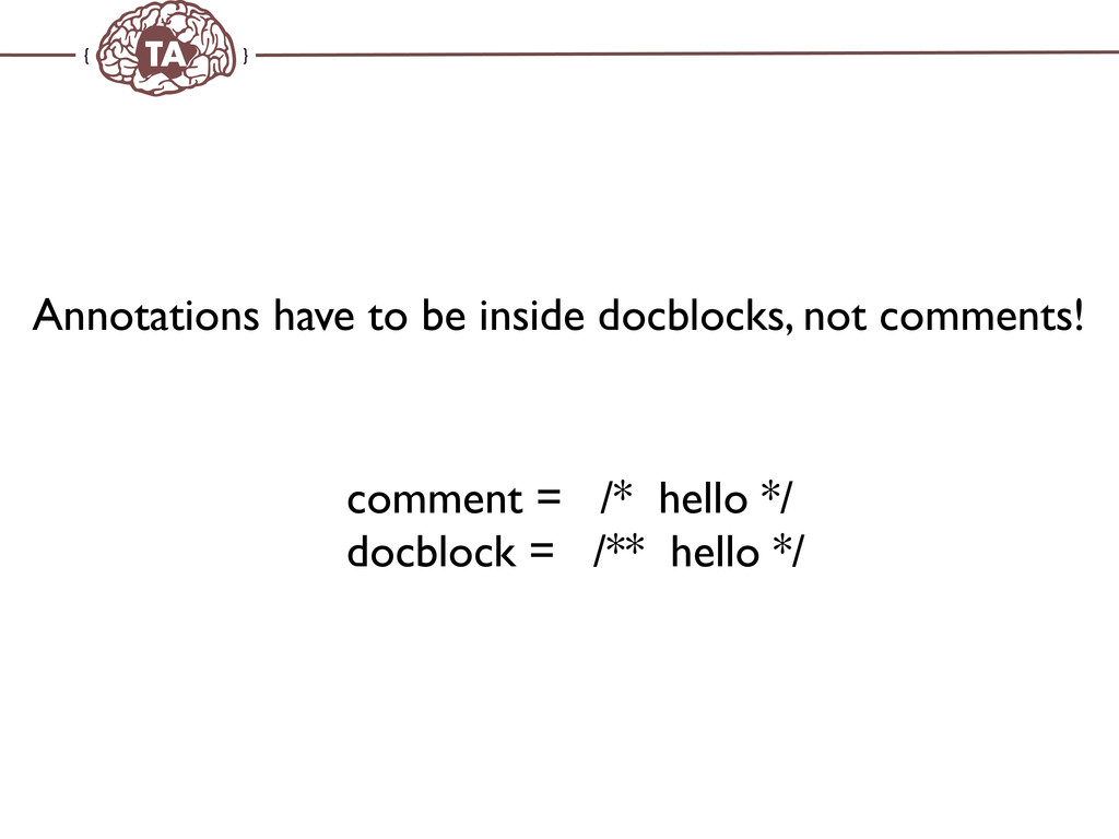 TechAdemy.nl Annotations have to be inside docb...