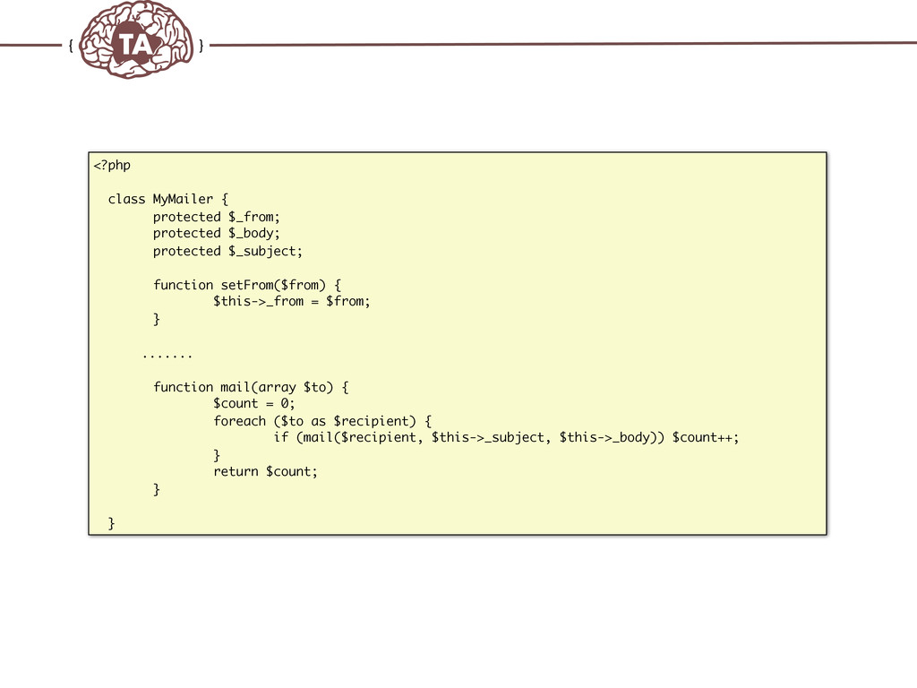 TechAdemy.nl <?php class MyMailer { protected $...