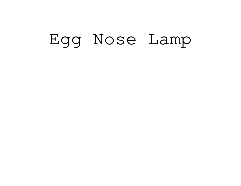 Egg Nose Lamp