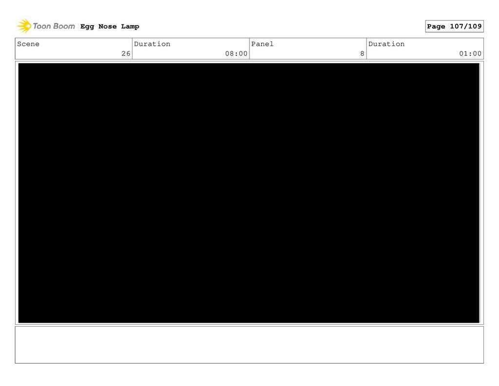 Scene 26 Duration 08:00 Panel 8 Duration 01:00 ...