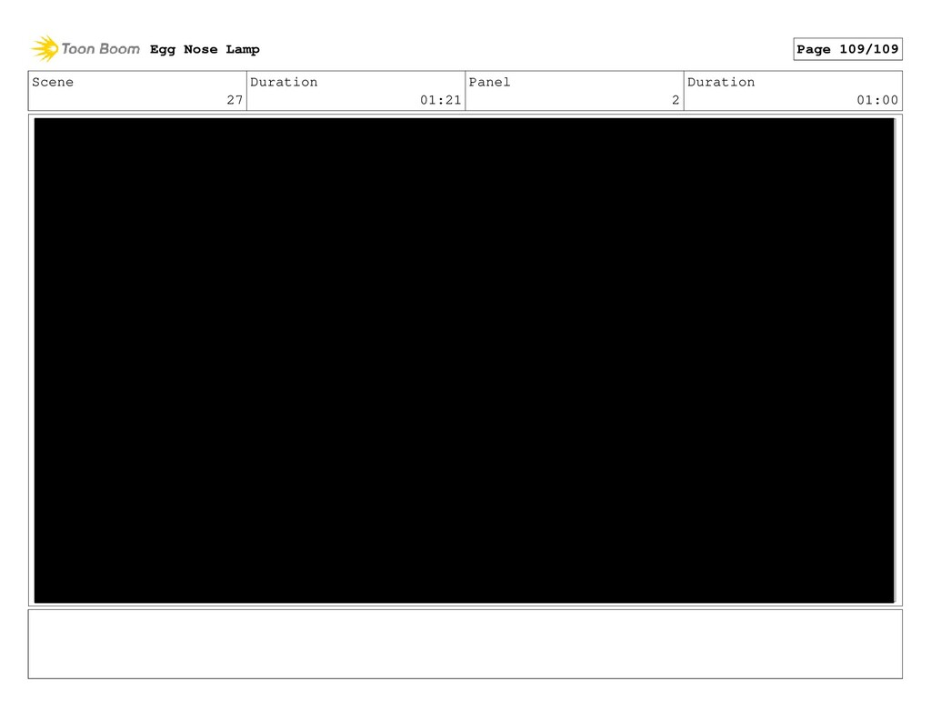 Scene 27 Duration 01:21 Panel 2 Duration 01:00 ...