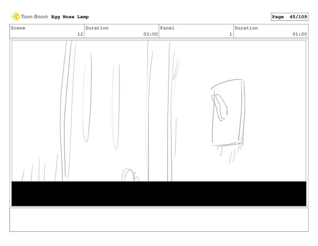 Scene 12 Duration 03:00 Panel 1 Duration 01:00 ...