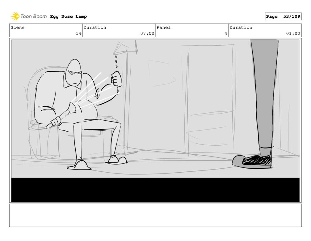 Scene 14 Duration 07:00 Panel 4 Duration 01:00 ...