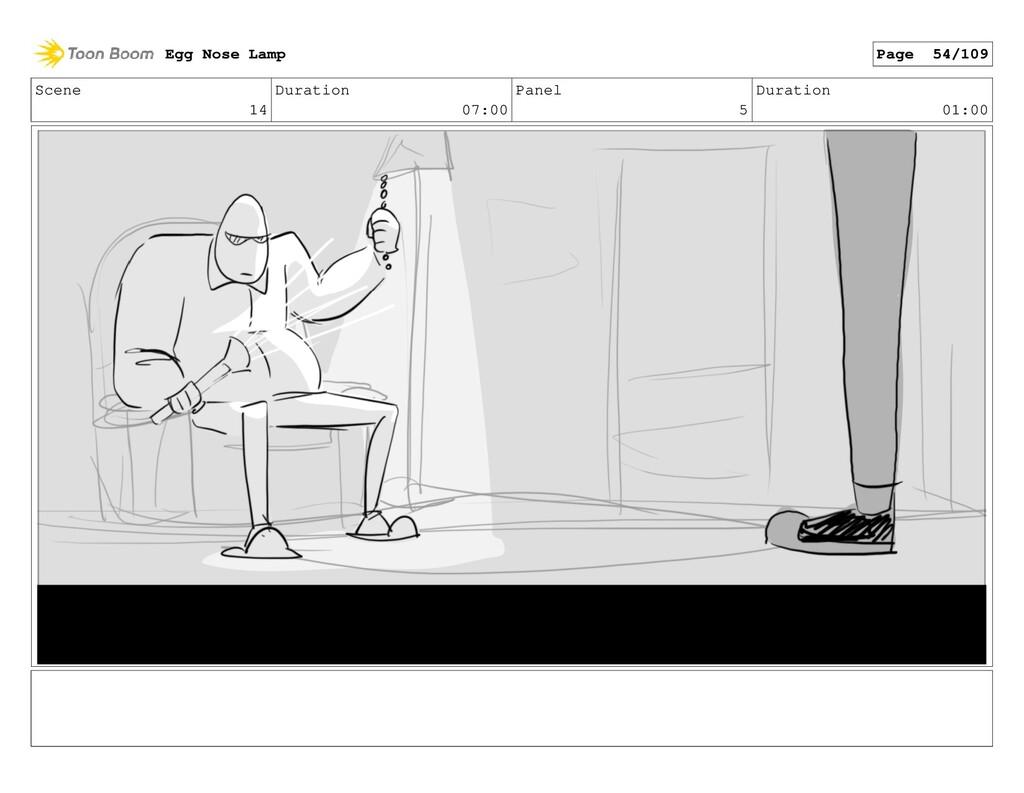 Scene 14 Duration 07:00 Panel 5 Duration 01:00 ...