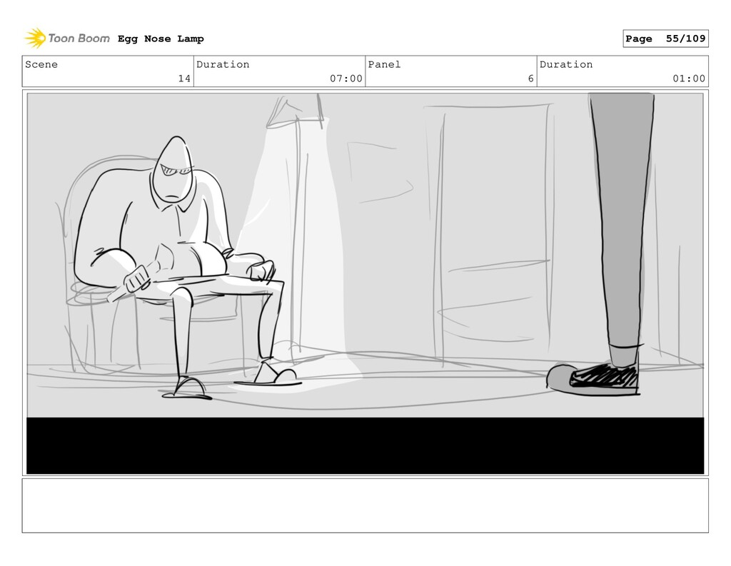 Scene 14 Duration 07:00 Panel 6 Duration 01:00 ...