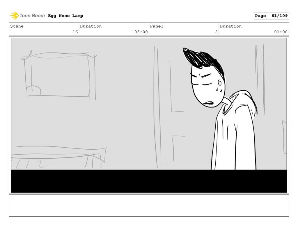 Scene 16 Duration 03:00 Panel 2 Duration 01:00 ...
