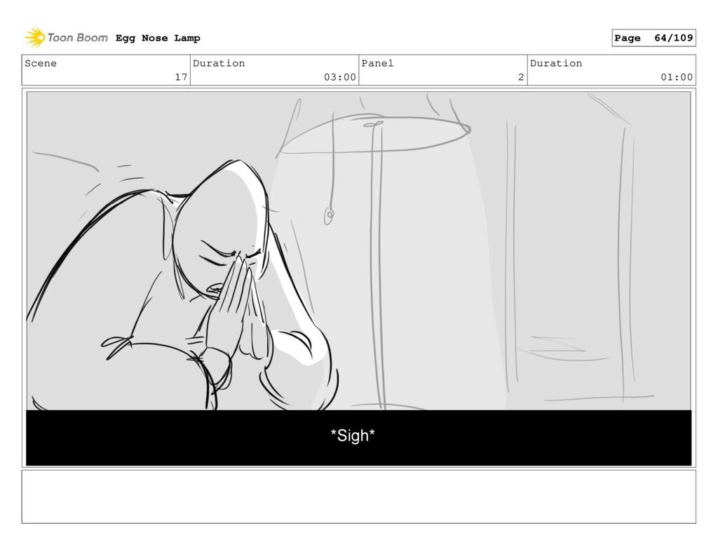 Scene 17 Duration 03:00 Panel 2 Duration 01:00 ...