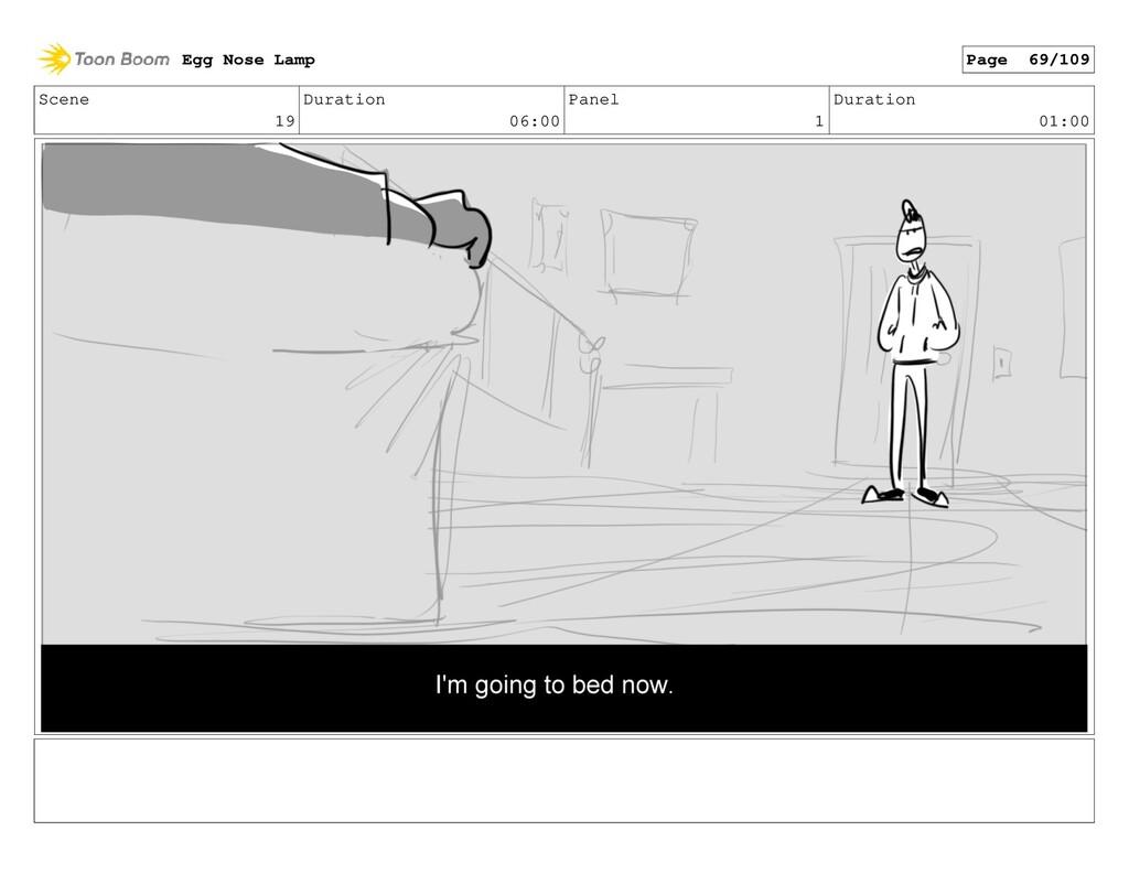 Scene 19 Duration 06:00 Panel 1 Duration 01:00 ...