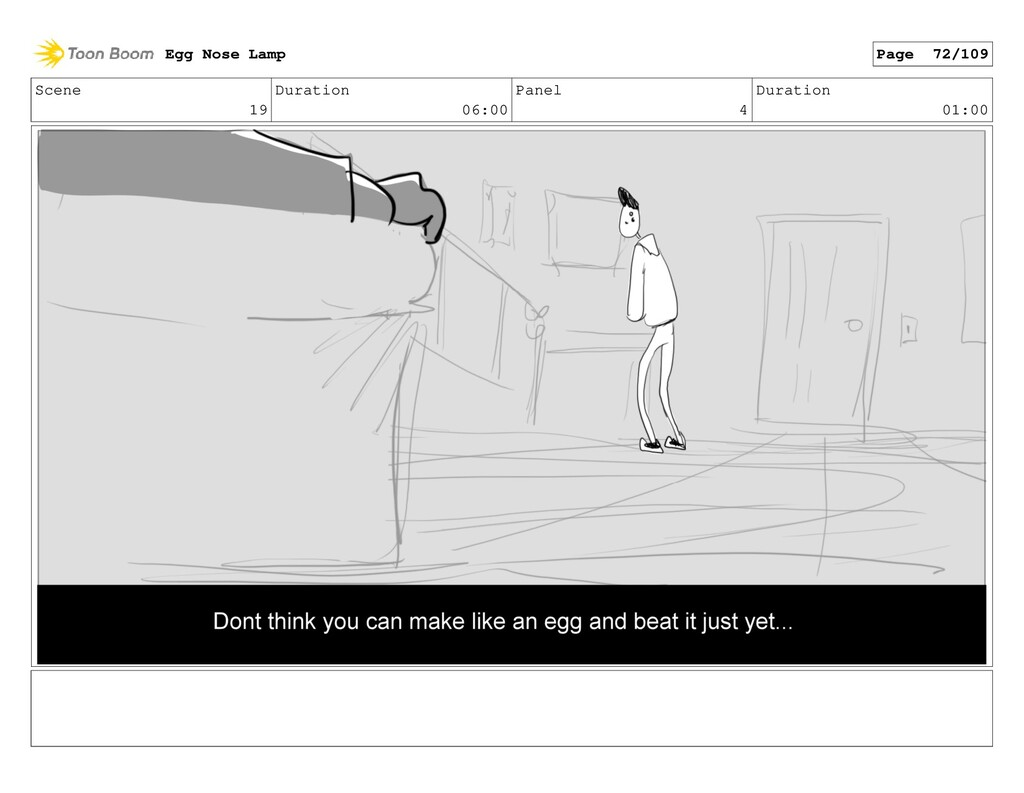 Scene 19 Duration 06:00 Panel 4 Duration 01:00 ...