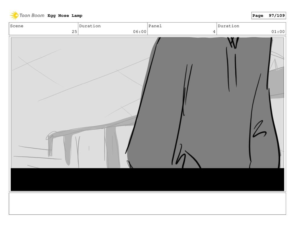 Scene 25 Duration 06:00 Panel 4 Duration 01:00 ...