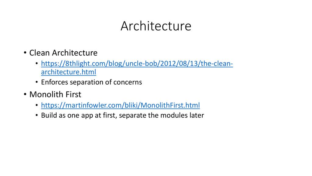 Architecture • Clean Architecture • https://8th...