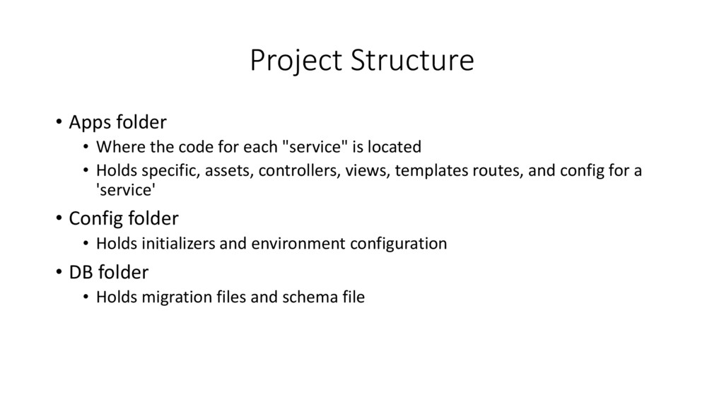 Project Structure • Apps folder • Where the cod...