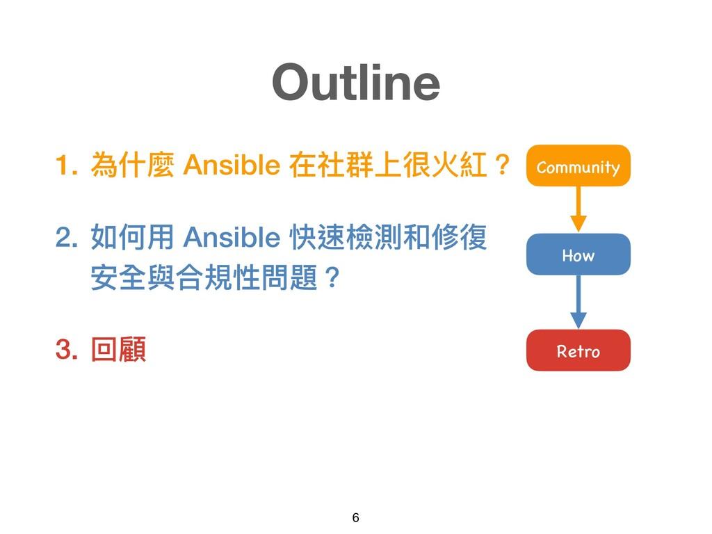 1. 為什麼 Ansible 在社群上很火紅? 2. 如何⽤ Ansible 快速檢測和修復 ...